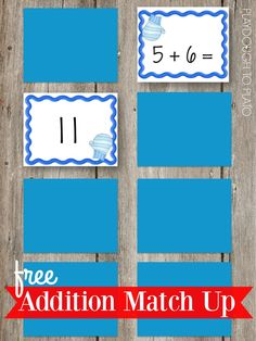 Fun addition match up game! Perfect winter activity for kids.