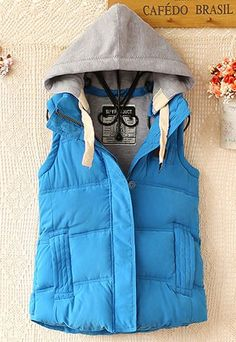 Image of [ghyxh3600826]Warm Leisure Hooded Women's Vest