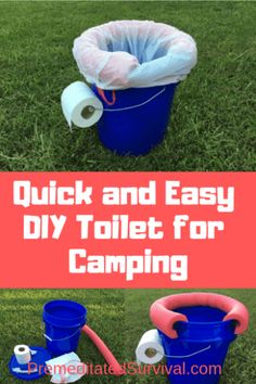 Are you looking for a quick and easy DIY toilet for camping In just a few simple steps well show you how to make a portable toilet out of a bucket. Diy Camping, Camping Glamping, Camping Stove, Camping Survival, Family Camping, Camping Hacks, Camping Gear, Outdoor Camping, Walmart Camping