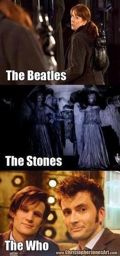Cute. A different take on Rock bands courtesy of Dr. Who.