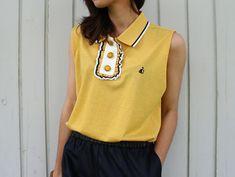 Mens Polo Shirt refashion. women's sleeveless polo. DIY. In German.