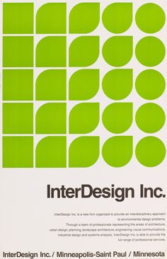 'InterDesign Inc.' Poster - Peter Seitz, 1960's