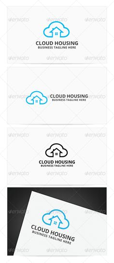 Cloud Housing Logo Design Template Vector #logotype Download it here: http://graphicriver.net/item/cloud-housing-logo/8067839?s_rank=674?ref=nesto