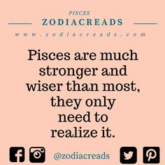 #pisces Pisces Traits, Pisces And Sagittarius, Pisces Quotes, Pisces Horoscope, Horoscopes, Pisces Lover, Pisces Girl, Zodiac Facts, Zodiac Signs