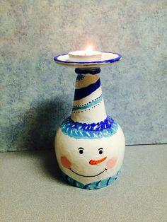 Snowman tea light holder on Etsy, $20.00