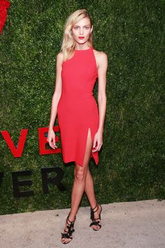 For major impact, try a vibrant colored dress, in an understated cut—matching lip for bonus points.   - HarpersBAZAAR.com