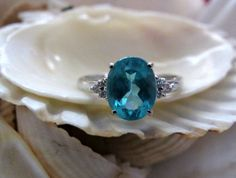 The setting really compliments this 14k neon Apatite  Diamond Ring  EverythingIOwn http://etsy.me/ZTeShl  @Etsy