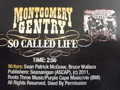 No big deal....Montgomery Gentry just released my song as their new single...give it a listen, ya'll!