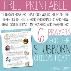 Raising a strong-willed child is not easy. 5 Prayers for the Stubborn Child's Heart will help focus & change your mother's heart as you pray for your child.