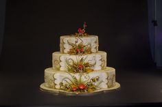 Fall Wedding Cake by Karen Portaleo for Highland Bakery, via Flickr