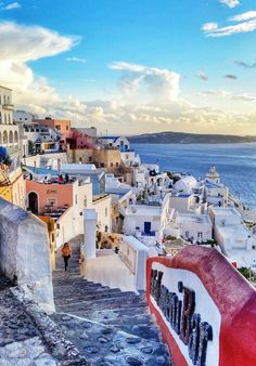 A great island you can visit in you holiday is Santorini island in Greece.  This is a Fira town  Picture taken by smart phone Galaxy S5