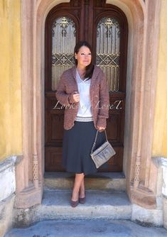 Outfit Farbtyp Sommer, kühle Farben, Grau, Rosé, Mauve und Lila