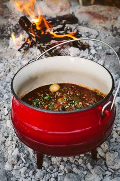Porter oxtail potjie with braised spuds - Yuppiechef Magazine - Braai & Cape Cuisine - Oxtail Recipes Braai Recipes, Oxtail Recipes, My Recipes, Beef Recipes, Cooking Recipes, Chicken Recipes, Bonfire Food, Campfire Food, Potato Face
