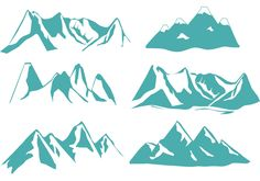 Vector silhouette of Denver mountains with all their beauty.