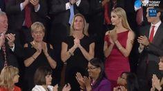 Navy SEAL widow gets long ovation during Trump's speech
