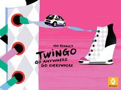 Chaussure - Nouvelle Renault Twingo - Print - Kuntzel + Deygas
