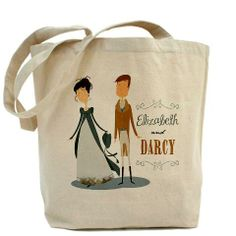 Lizzy and Darcy Tote Bag $14.99