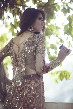Lahore has stepped up their fashion game considerably in 2015 with new designers emerging as great potential players and established designers redefining their labels and stepping into the limeligh… Pakistani Formal Dresses, Pakistani Wedding Outfits, Pakistani Bridal Wear, Indian Dresses, Indian Outfits, Stylish Dresses, Elegant Dresses, Fashion Dresses, Pakistani Couture