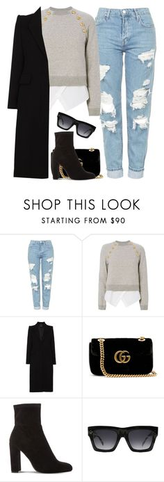 """Untitled #996"" by khalesse ❤ liked on Polyvore featuring Topshop, 10 Crosby Derek Lam, Alexander McQueen, Gucci, Steve Madden and CÉLINE"
