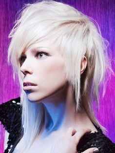Asymmetrica mullet. i have a soft spot for ugly hair.