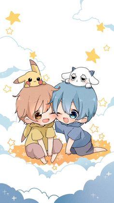 るぅと ころん Chibi Boy, Cute Anime Chibi, Kawaii Chibi, Cute Anime Boy, Cute Anime Couples, Anime Art Girl, Kawaii Anime, Pokemon, Pikachu