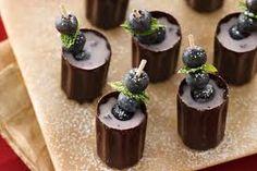 Blueberry Martini Cordials Recipe from Betty Crocker Elegant Desserts, Great Desserts, Mini Desserts, Dessert Recipes, Chocolate Desserts, Drink Recipes, Punch Recipes, Alcohol Recipes, Dessert Drinks