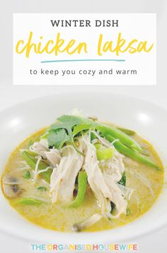A healthy, delicious Chicken Laksa soup that not only soothes the throat but can help with the decongestion. This Chicken Laksa has a little kick that takes it a step further helping clear that blocked nose. Laksa Soup Recipes, Chicken Soup Recipes, Laska Soup, Healthy Canned Soups, Chicken Laksa, Winter Dishes, Blocked Nose, Yum Yum Chicken, Great Recipes