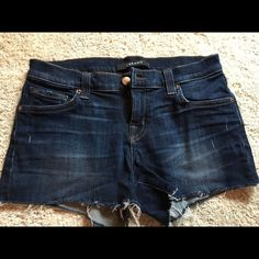 J Brand Cut off short in tribute J Brand stretch cut off denim short in tribute wash. Size 24. Great condition! J Brand Shorts Jean Shorts