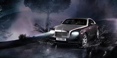 "This is the new Rolls-Royce Wraith.  ""A car that pushes the boundaries of design and engineering. With the power, style and drama to make the world stand still.  The darker side of Rolls-Royce."""