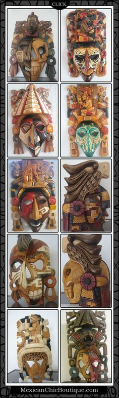 Mayan Mask ♥ Mayan Masks  ♥ Mexican Decorations ♥ Mexican Chic Boutique (www.MexicanChicBoutique.com)