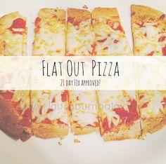 www.laurabumbala.com | Recipe: Flat Out Pizza