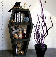 Image result for coffin shaped bookcase