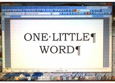 OUTLINE OF LIFE: One Little Word 2016