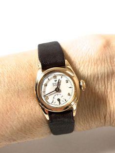 Vintage ROLEX 18k ROSE GOLD LADIES WATCH RARE 1946, SWISS MADE,17 JEWEL, WIND UP #Rolex #Casual