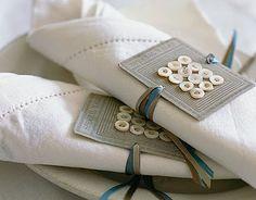 Cute napkin ties