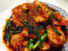 Singapore Home Cooks: Fragrant Prawns by Lena Lai asianprawnsrecipe Asian Prawns Recipe, Thai Prawn Recipes, Lobster Recipes, Shellfish Recipes, Seafood Recipes, Indian Food Recipes, Asian Recipes, Healthy Recipes, Veg Recipes