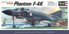 Revell British Royal Navy Phantom F-4K 1/72 Scale Model Kit.