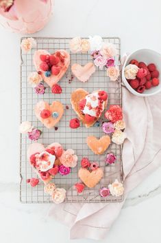 Pretty and Pink Mini Heart Pancakes – Beijos Events Valentine History, Valentine Heart, Pancake Designs, Heart Shaped Pancakes, Mini Pancakes, Strawberry Pancakes, Waffles, Pancake Art, Valentines Day Party