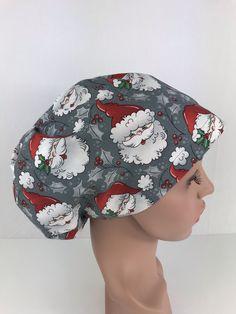 Santa Clause Euro Cap – Oksana's Creations Surgical Caps, Scrub Caps, Santa Clause, Drip Dry, Hair Lengths, Different Styles, Making Out, Scrubs, Euro