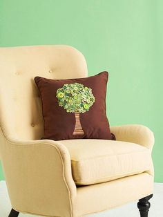 Button Treetop Pillow