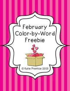 This freebie includes 6 different coloring pages with sight word keys, similar to a color by number.  This are perfect for any primary classroom, either in a Word Work Center or just a fun coloring time! Hope you enjoy them!   Please check out my store for other February themed activities.  *~*~*~*~*~*~*~*~*~*~*~*~*~*~*~*~*~*~*~*~*~*~*~*~*~*~*~* Helpful tips:   How to get TPT credit to use on future purchases:        •Please go to your My Purchases page (you may need to login).