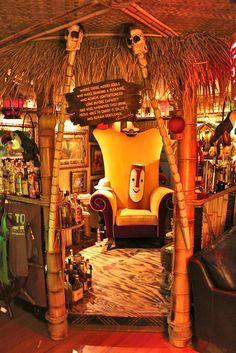at Tikitastic's Mountain Lair Tiki Art, Tiki Tiki, Café Bistro, Tiki Bar Decor, Tiki Lounge, Pub Design, Vintage Tiki, Tiki Torches, Tiki Room