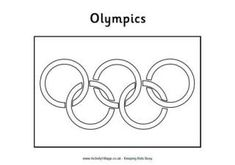 Printable Olympic Flag colouring page for kids. Paint or colour the Olympic Rings, or use the printable as a base for collage or template for a craft activity. Olympic Flag, Olympic Idea, Olympic Medals, Olympic Gymnastics, Olympic Games, Gymnastics Party, Super Coloring Pages, Detailed Coloring Pages, Flag Coloring Pages