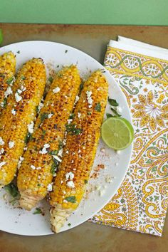 Grilled Mexican Inspired Corn on the Cob