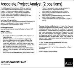 Asian Development Bank Job Circular 2018