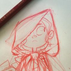 Working on a Red Riding Hood illustration... #wip #illustration