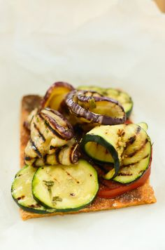 Sweet Potato Flatbread w/Grilled Veggies