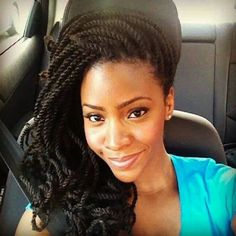 Natural Kinky Twist Updo Hairstyle : Beauteous Kinky Twist Updo Hairstyle