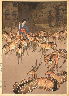 Beautiful Wood Block Prints by Hiroshi Yoshida   I.D. 36