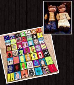 Beautiful Star Wars quilt mural and loomigurumi action figures by Emma #starwars #loomigurumi #quilt #bands #princessleia